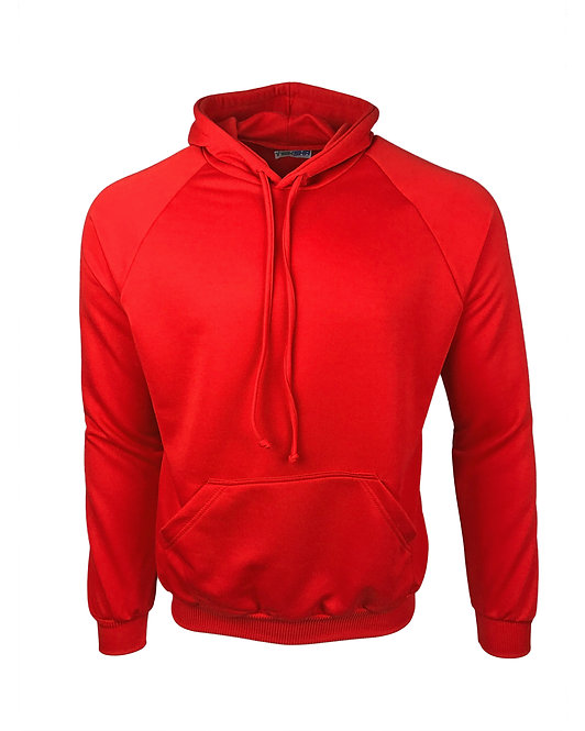 Plain Unisex Hoodie in Red