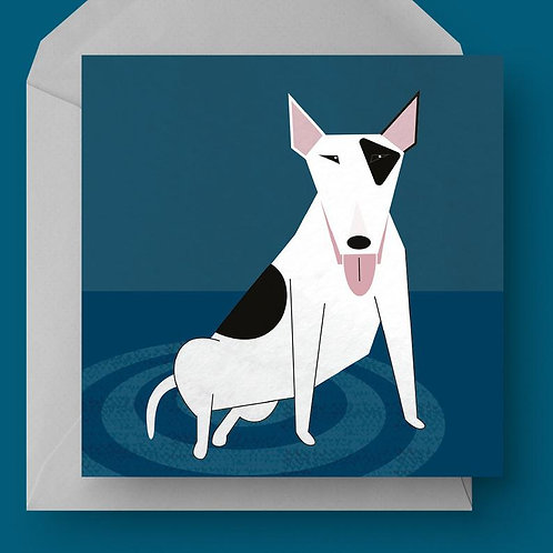Bull Terrier Charity Greetings Card