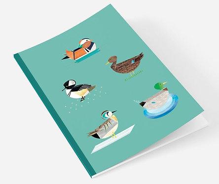 Dabbling Ducks A5 Notebook