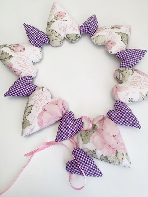 Heart Garland Decoration - Purple