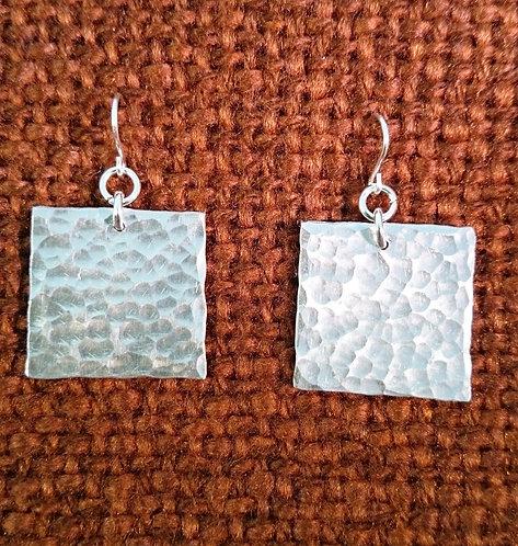 Aluminium Square Geometric Earrings