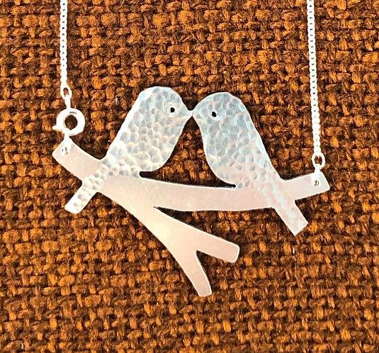 Aluminium Lovebirds Necklace
