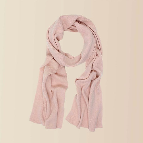 Long Cashmere Scarf in Blush