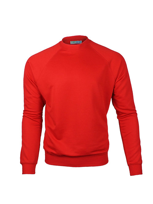 Plain Unisex Sweater in Red