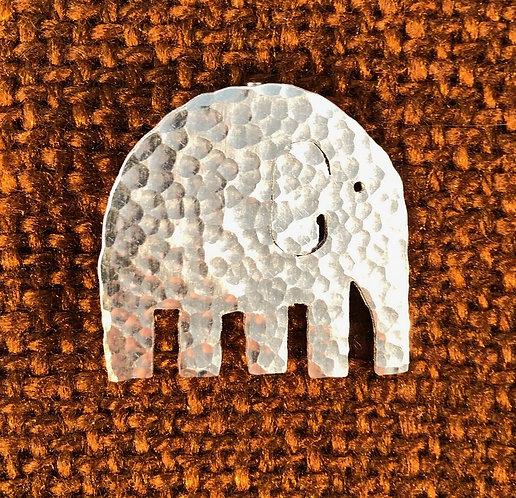 Aluminium Animal/fox/elephant/dove Brooch