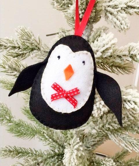 Felt Penguin Christmas Decoration