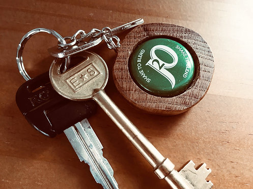 Reclaimed Oak Bottle Top Keychain