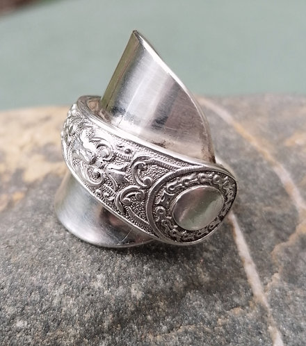 Silver Victorian Spoon Ring