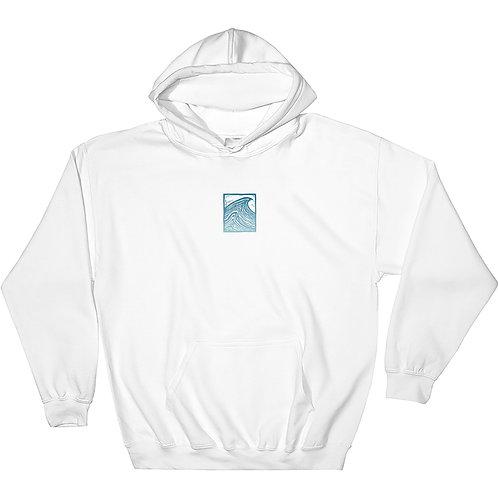 White Wave Hoodie