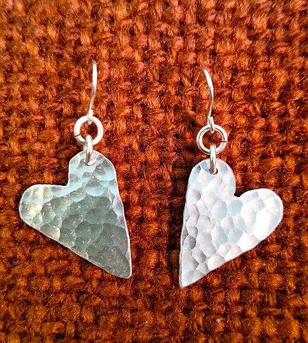 Aluminium Mini Heart Earrings