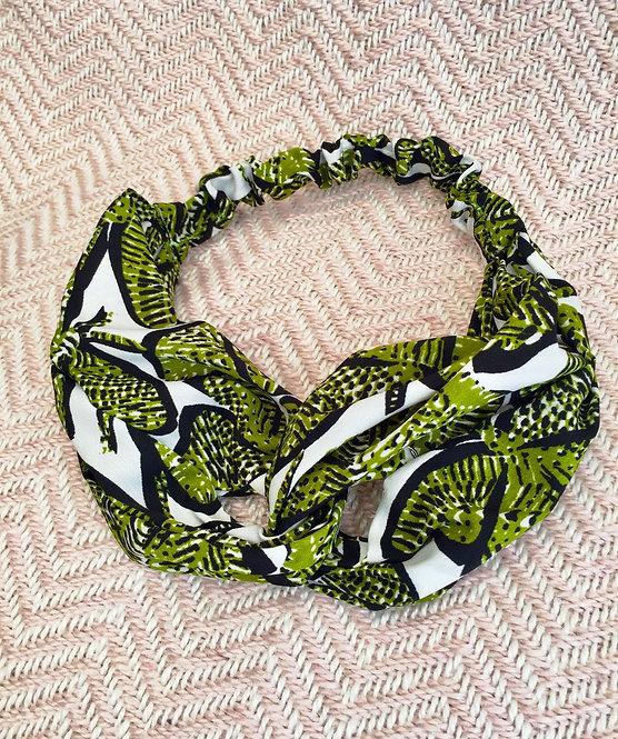 Tropical Leaf Print Headband