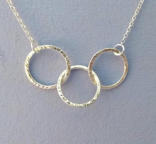 Silver Triple Circles Necklace