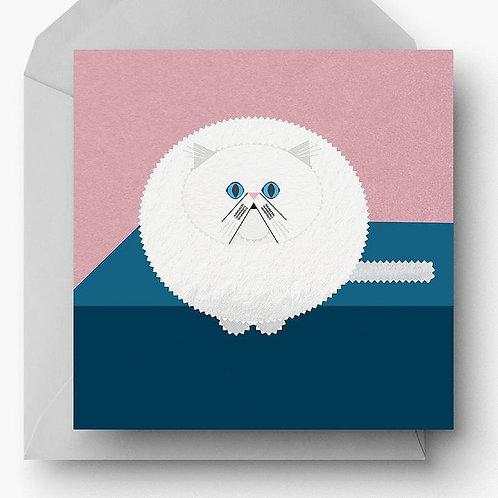 Persian Cat Charity Greetings Card