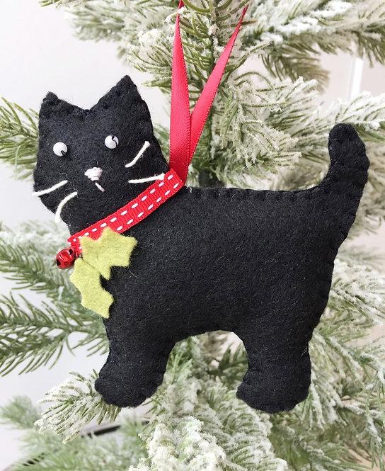 Black Cat Christmas Decoration