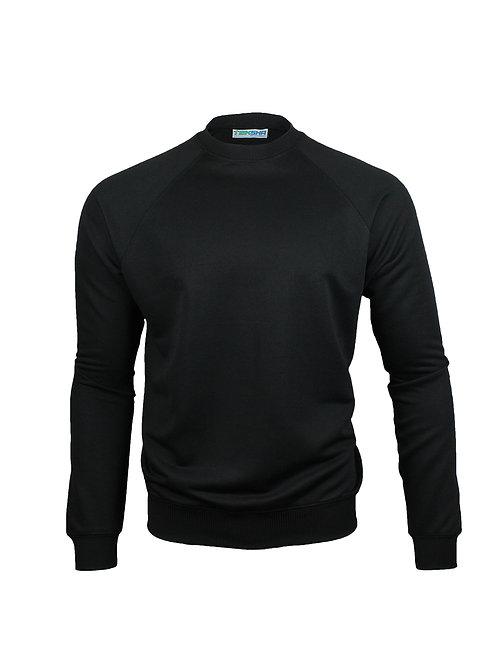 Plain Unisex Sweater in Black