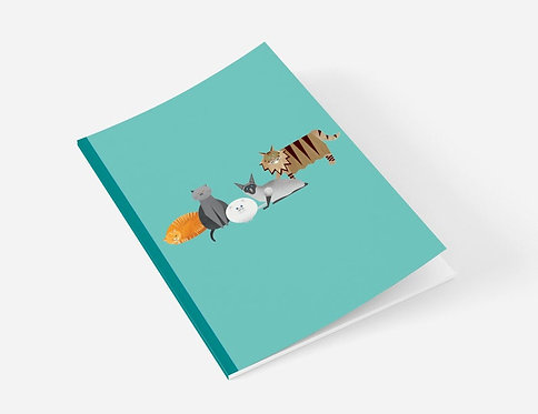 Cat Characters A5 Notebook