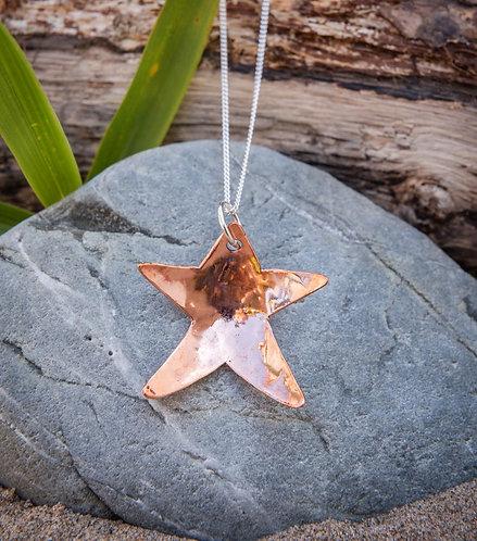 Large Copper Star Pendant