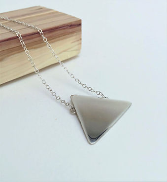 Recycled triangle necklace