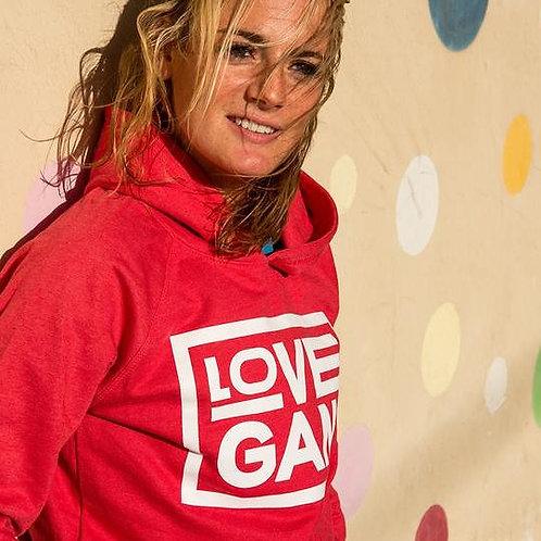 Unisex Love Gang Hoodie in Red