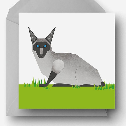 Siamese Cat Charity Greetings Card