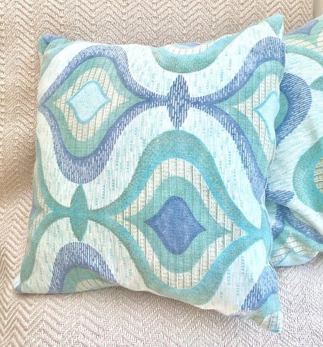 Blue Vintage Fabric Cushion