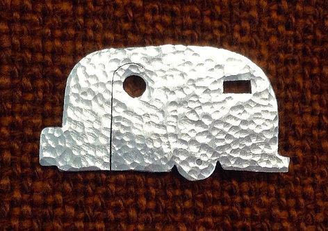 Aluminium Vehicle/caravan/car Brooch