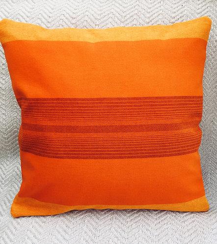 Vintage Orange Fabric Cushion