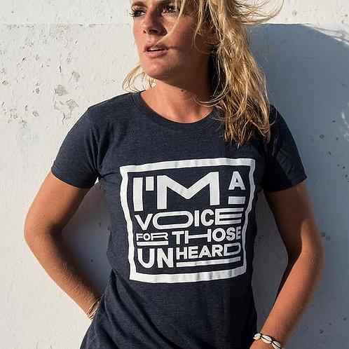Women's Vegan 'I'm a Voice for Those Unheard' Tee