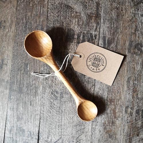 Oak Whiskey Barrel Double-ended Spoon