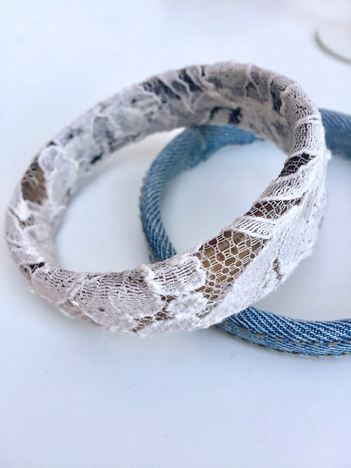 Lace and Resin Bangle