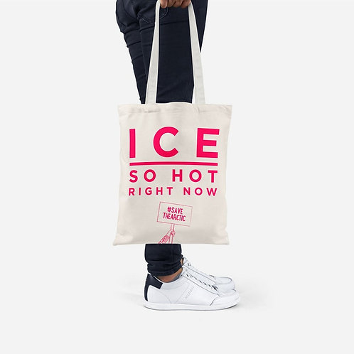 Ice Slogan Tote Bag