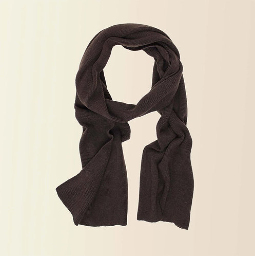 Long Cashmere Scarf in Carob