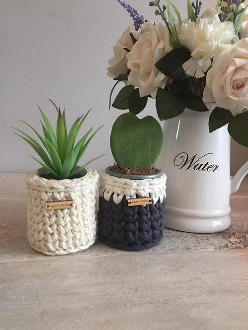 Small Crochet Cactus Pot (various colours)