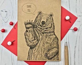 'Thank You' Bear Card