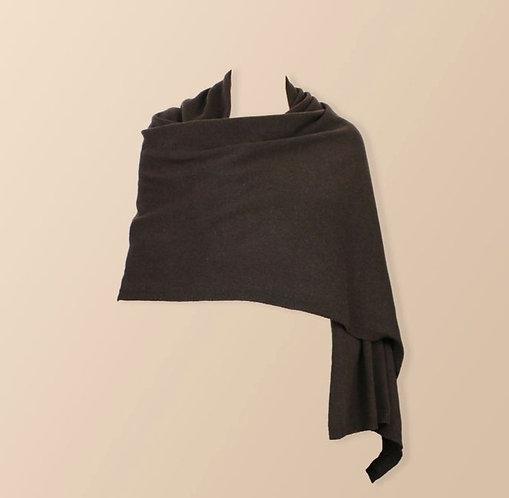 Oversized Cashmere Wrap in Carob