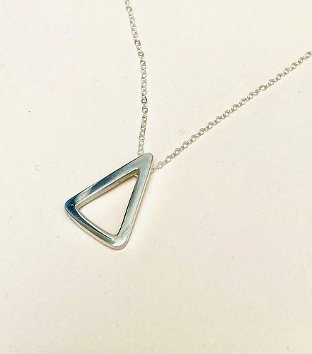 Silver Open Triangle Necklace