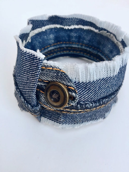 Wrapped Denim Bangle