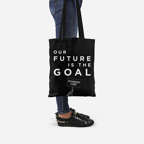 Our Future is Our Goal Slogan Tote Bag