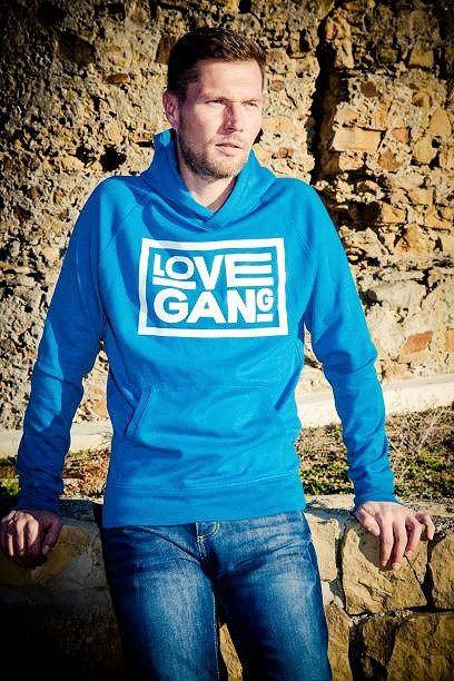 Unisex Love Gang Hoodie in Blue