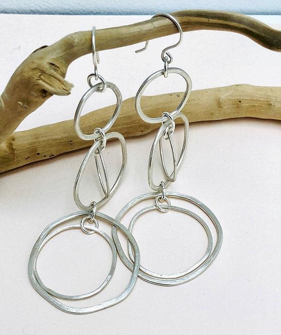 Silver Multi Hoop Earrings