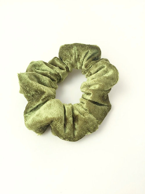 Green Velvet Scrunchie