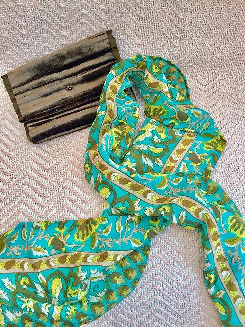 Aqua Silk Scarf