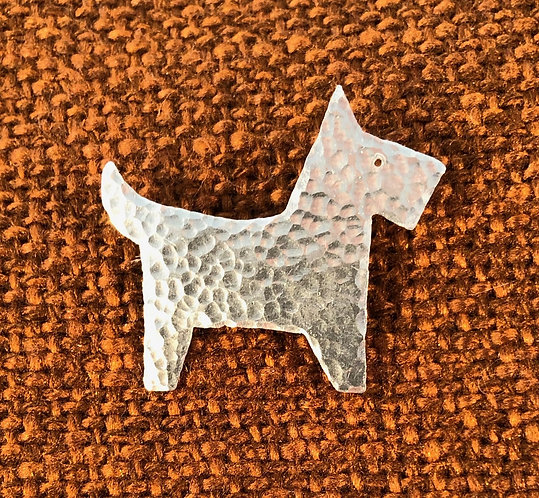 Aluminium Dog/scottie/sausagedog/spaniel Brooch