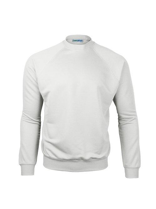 Plain Unisex Sweater in White