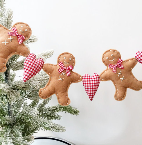 Gingerbreadman Christmas Garland