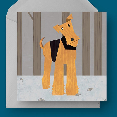 Airedale Dog Charity Greetings Card