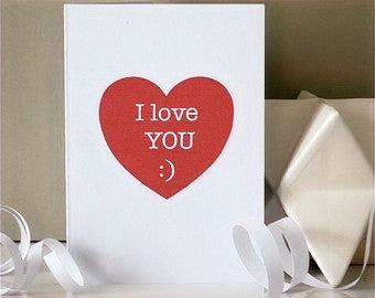 'I Love You' Heart Card
