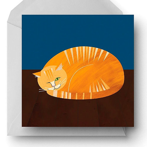 Ginger Moggy Charity Greetings Card