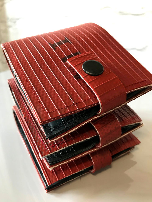 Fire Hose Wallet in Red