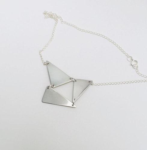Silver Triple Triangle Necklace